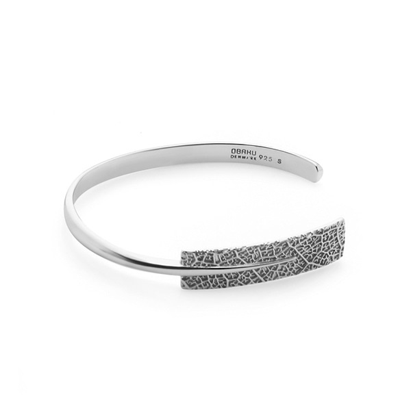 LEAF SILVER BANGLE (J106GII)
